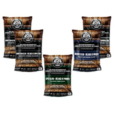 Lot Pit Boss Pellets 5 x 9kgs aux 4 essences de bois